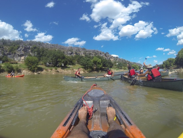 Bandera County youth canoeing